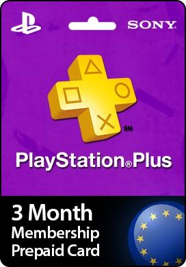 Playstation Network CDKey : Playstation Plus 3 Month Prepaid Card - United Kingdom