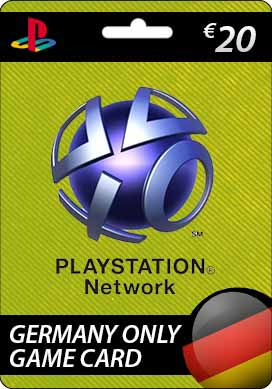 Playstation Network CDKey : Sony Playstation Network €20.00 Card - Germany