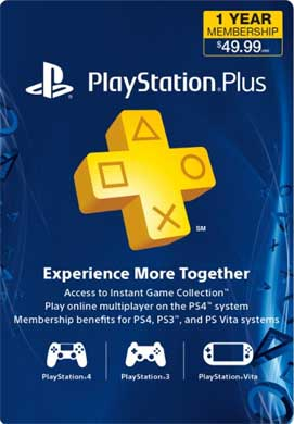 Playstation Network CDKey : 1 Year PlayStation Plus Membership Prepaid Card - Canada