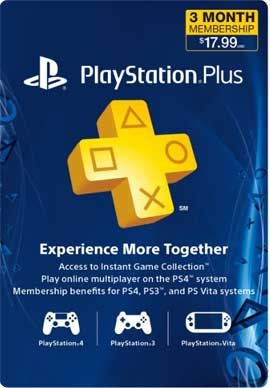 Playstation Network CDKey : 3 Month PlayStation Plus Membership Prepaid Card - Canada