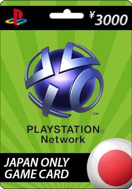 Playstation Network CDKey : Sony Playstation Network ¥3000 Card - Japan