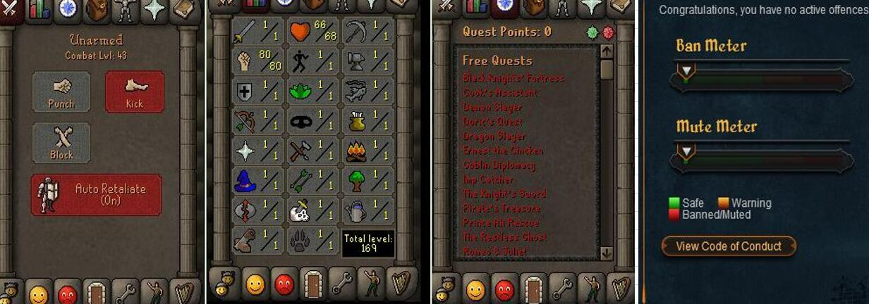 RuneScape CDKey : OldSchool Acc with att1 str80 def1 ranged 1 , it does not bind email ,so it is much safe to buyer.