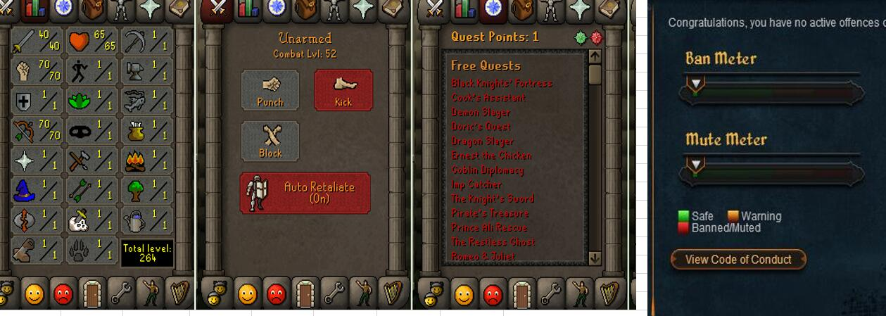 RuneScape CDKey : OldSchool Acc with att40 str70 def1 ranged 70 , it does not bind email ,so it is much safe to buyer.