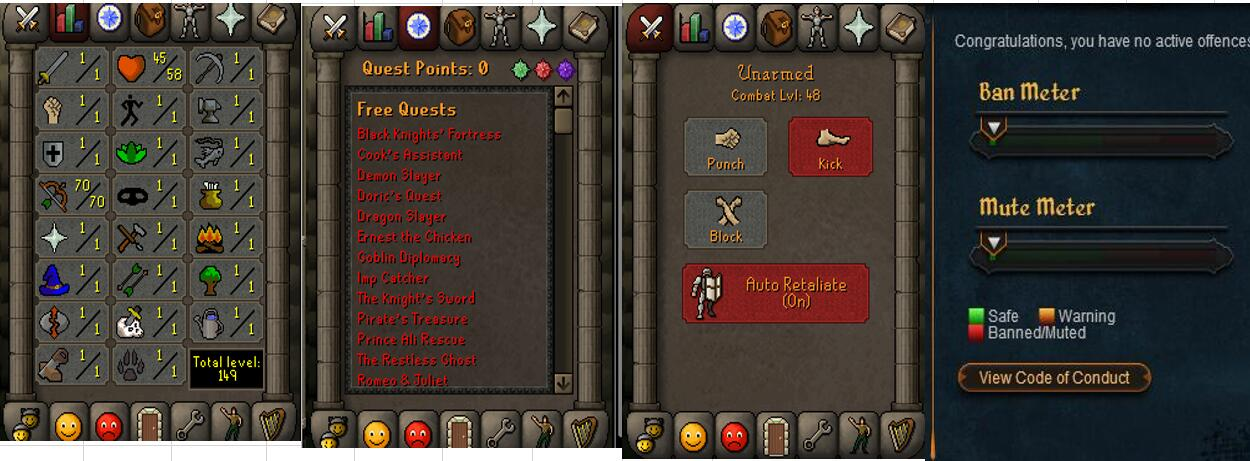 RuneScape CDKey : OldSchool Acc with att1 str1 def1 ranged 70 , it does not bind email ,so it is much safe to buyer.