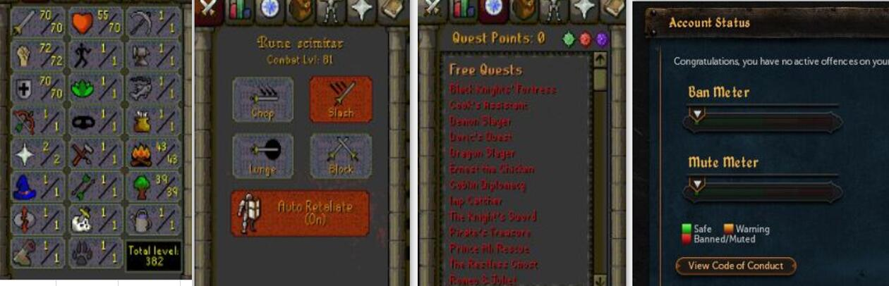 RuneScape CDKey : OldSchool Acc with att70 str72 def70 ranged 1 , it does not bind email ,so it is much safe to buyer.