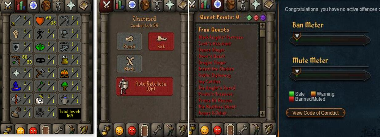 RuneScape CDKey : OldSchool Acc with att1 str1 def1 ranged 80 , it does not bind email ,so it is much safe to buyer.