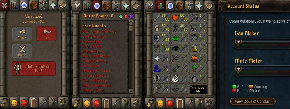 RuneScape CDKey : OldSchool Acc with att88 str90 def88 ranged 26 , it does not bind email ,so it is much safe to buyer.