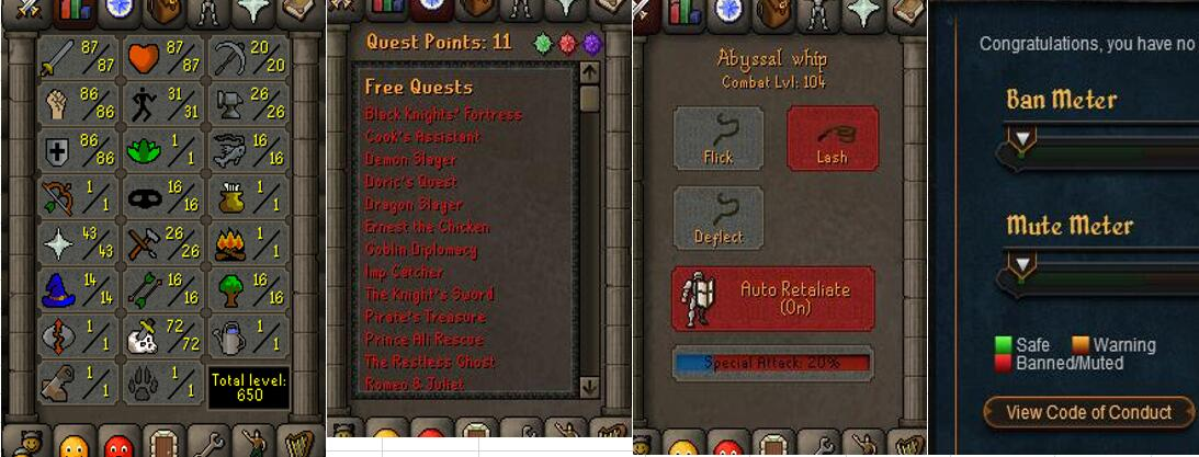RuneScape CDKey : OldSchool Acc with att87 str86 def86 ranged 1 , it does not bind email ,so it is much safe to buyer.