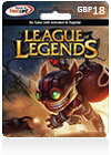 League Of Legends CDKey : League of Legends GBP18 Riot Points Card (UK)