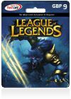 League Of Legends CDKey : League of Legends GBP9  Riot Points Card (UK)